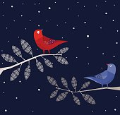Birds On Tree, Forest