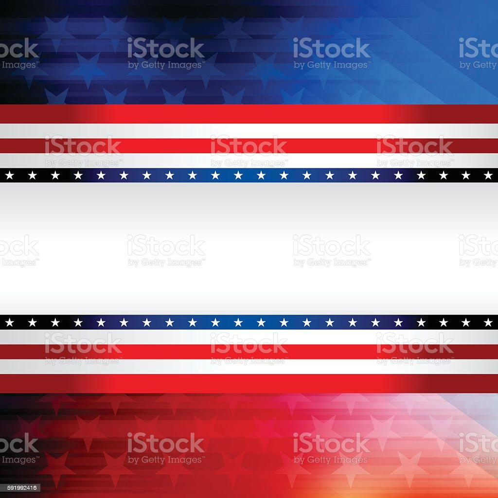 Blue and red rising star background vector art illustration
