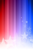 Vector abstract star background. Blue, red and white colors.