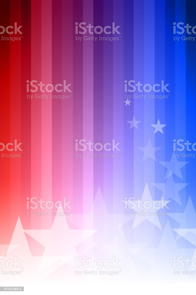 Blue and Red Star Background vector art illustration