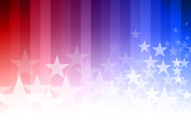 blue and red star background - american flag background stock illustrations