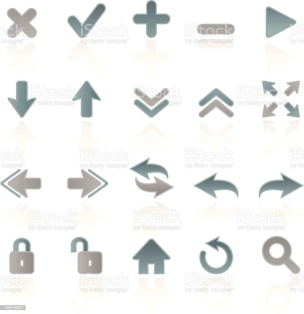 Blue and Silver Web Symbols vector art illustration