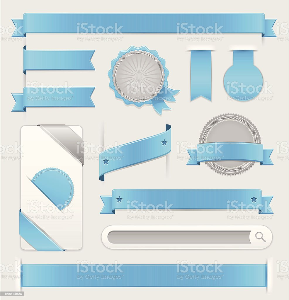 Blue and white animated web design elements royalty-free blue and white animated web design elements stock vector art & more images of achievement