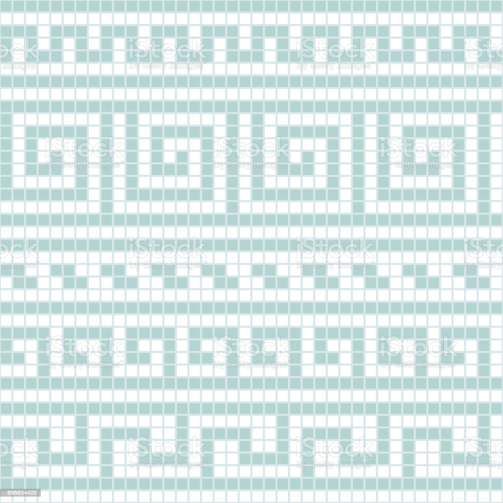 Blue And White Geometric Greek Meander Traditional Seamless Pattern ...