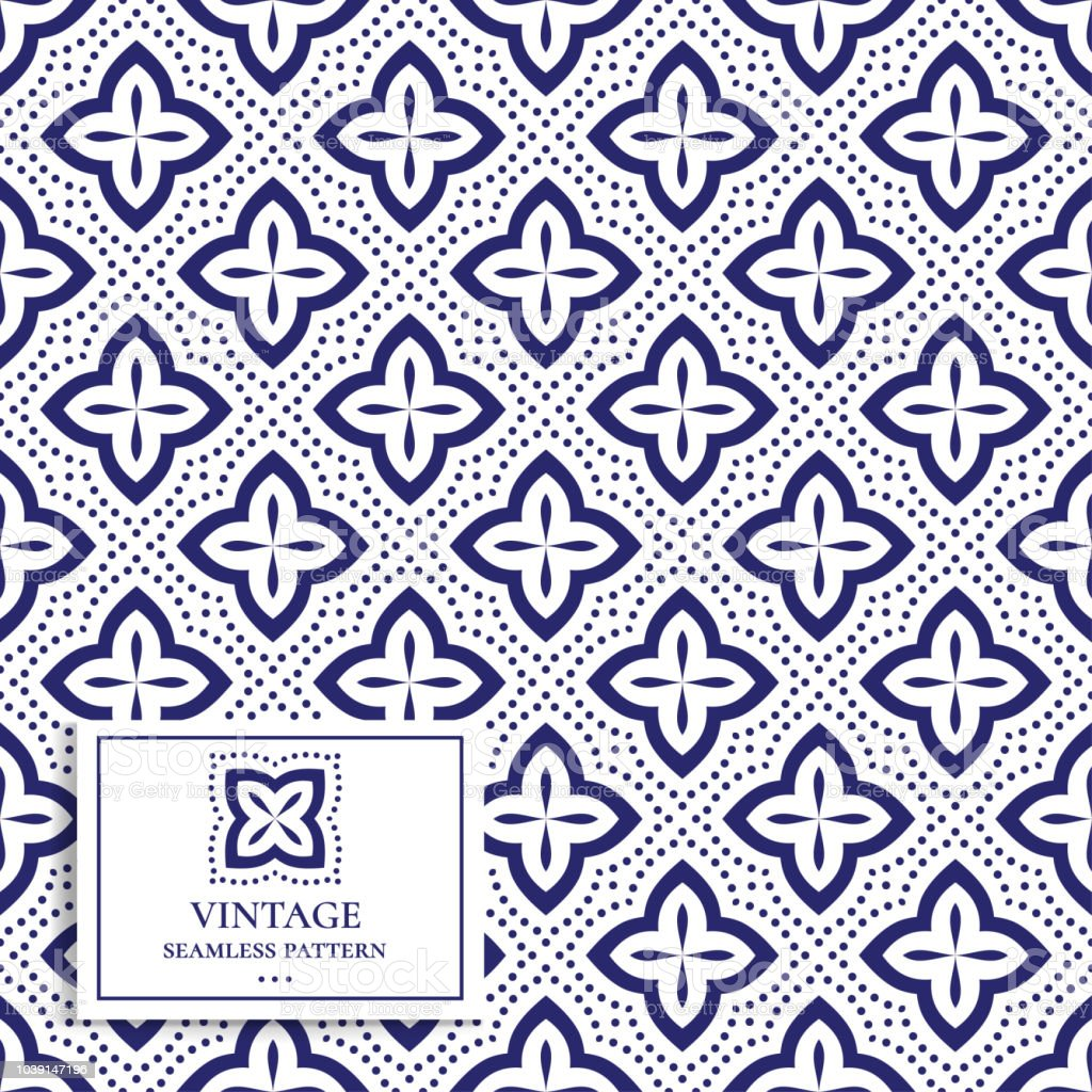 Ilustración de Azul Y Blanco De Geométrico Patrones Sin Fisuras ...