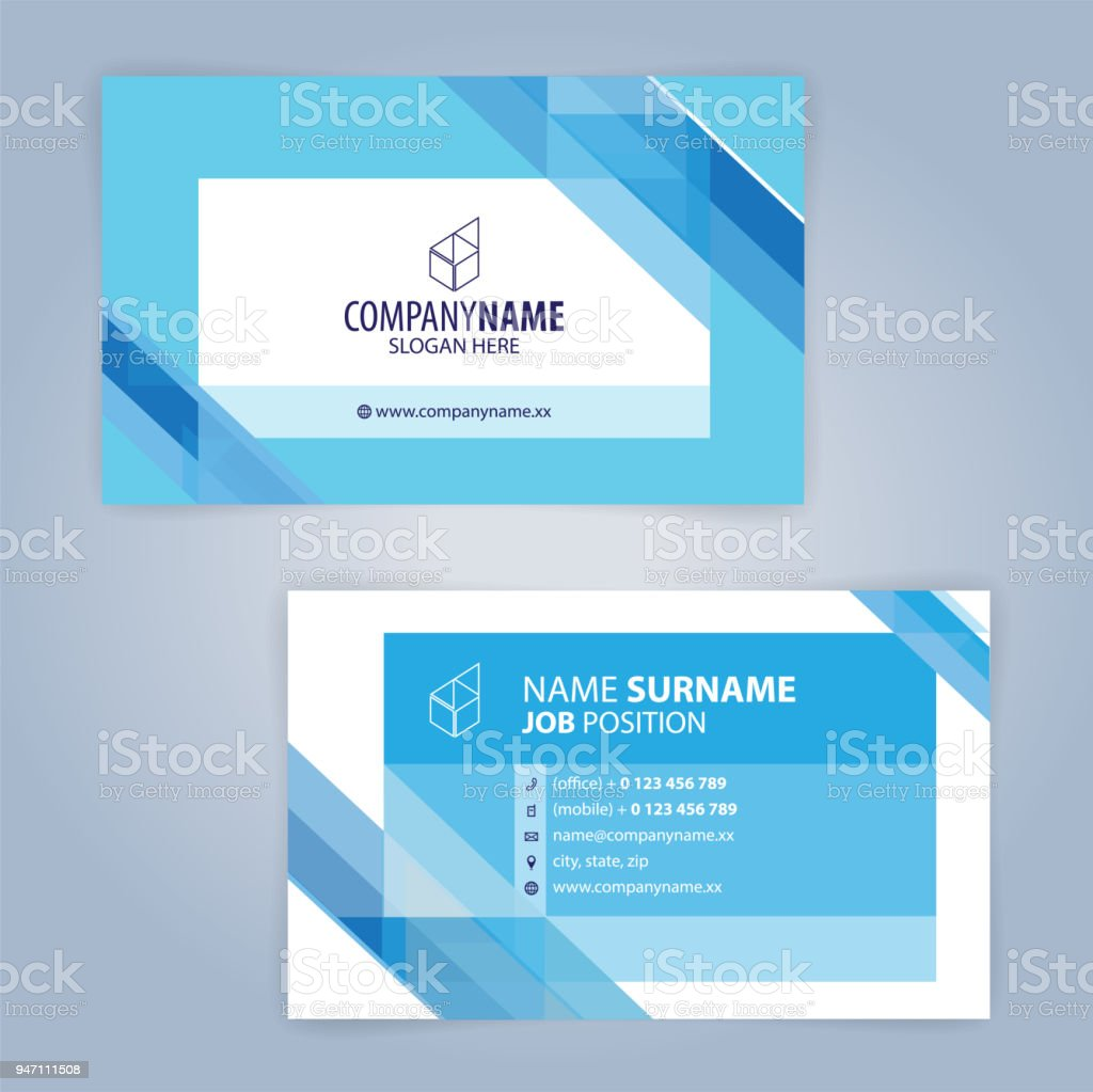 Blue and white modern business card template illustration vector 10 blue and white modern business card template illustration vector 10 royalty free blue and wajeb Images
