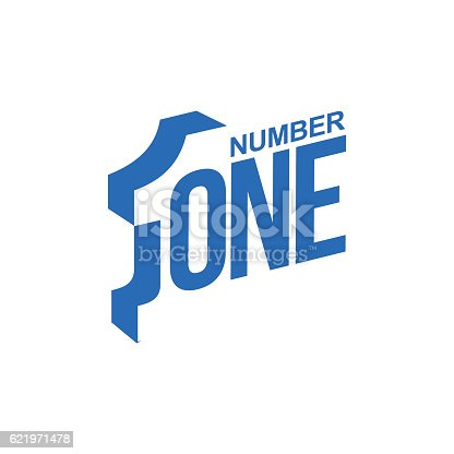 blue and white number one diagonal logo template, vector illustrations isolated on white background. Graphic logo with diagonal logo with number one