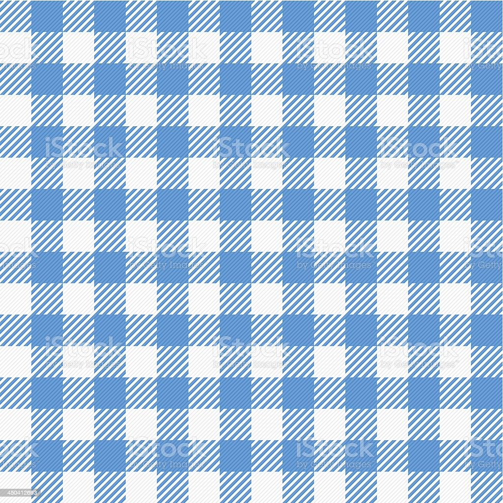 Blue and white plaid picnic table cloth type pattern royalty-free stock vector art