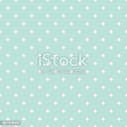 Blue and white polka dot baby seamless vector pattern. Cute kid repeat background for fabric textile, muslin blanket and wallpaper design.
