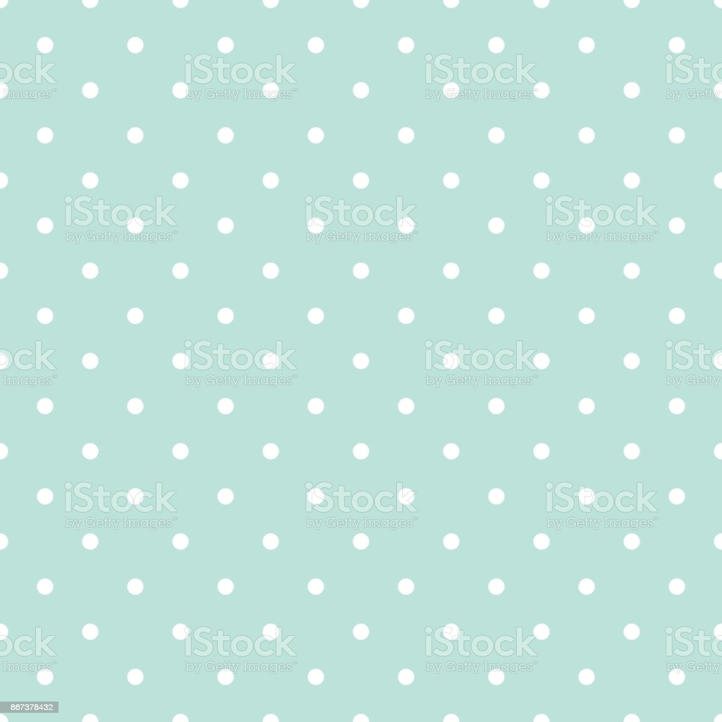 Blue and white polka dot baby seamless vector pattern vector art illustration