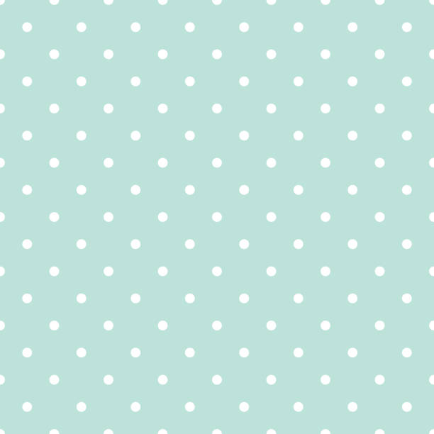 Blue and white polka dot baby seamless vector pattern Blue and white polka dot baby seamless vector pattern. Cute kid repeat background for fabric textile, muslin blanket and wallpaper design. polka dot stock illustrations