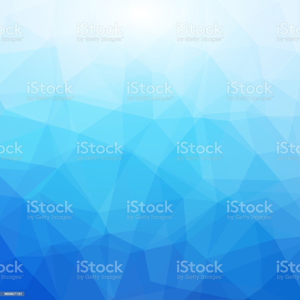 Blue and White Polygonal Mosaic Background - Royalty-free Abstract stock vector