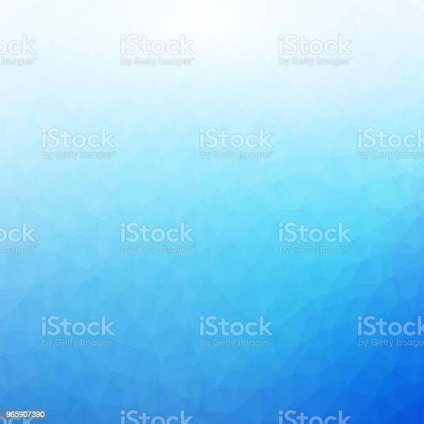 Blue And White Polygonal Mosaic Background - Arte vetorial de stock e mais imagens de Abstrato