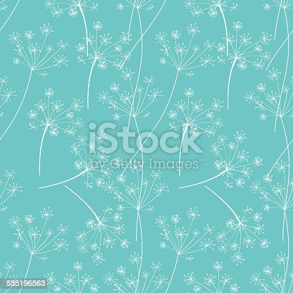 istock Blue And White Retro Queen Annes Lace Floral Background Pattern 535196563