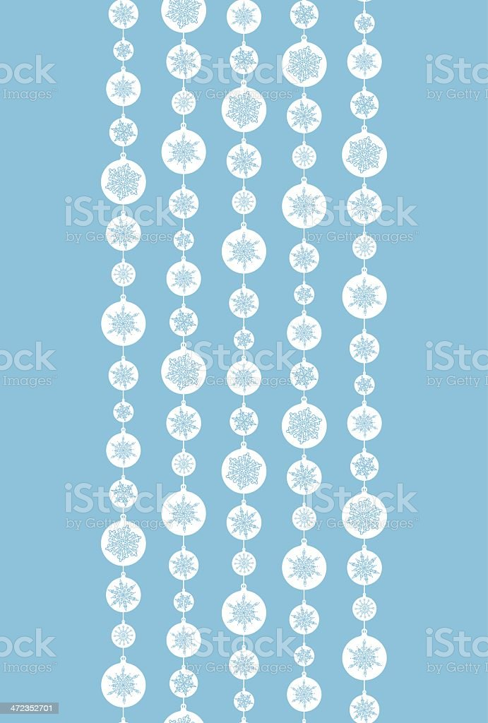 Blue and White Snowflakes Stripes Vertical Seamless Pattern Background royalty-free stock vector art