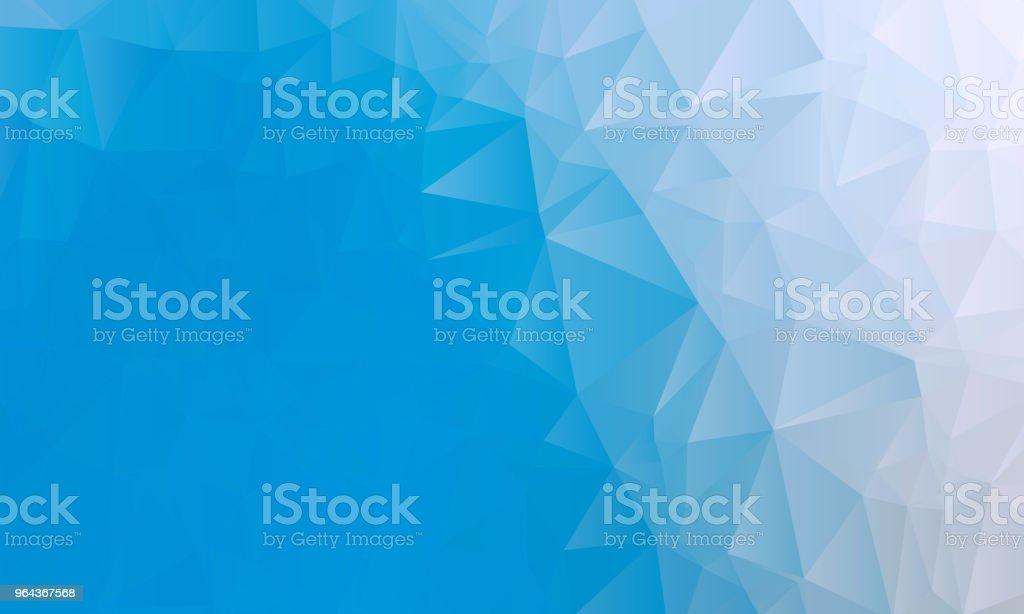 Blauwe en witte driehoek achtergrondstructuur - Royalty-free Abstract vectorkunst