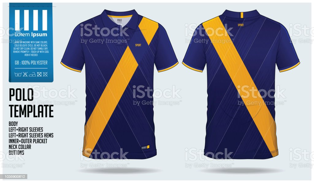 ae4b8c7ef Blue And Yellow Polo Tshirt Sport Template Design For Soccer Jersey ...