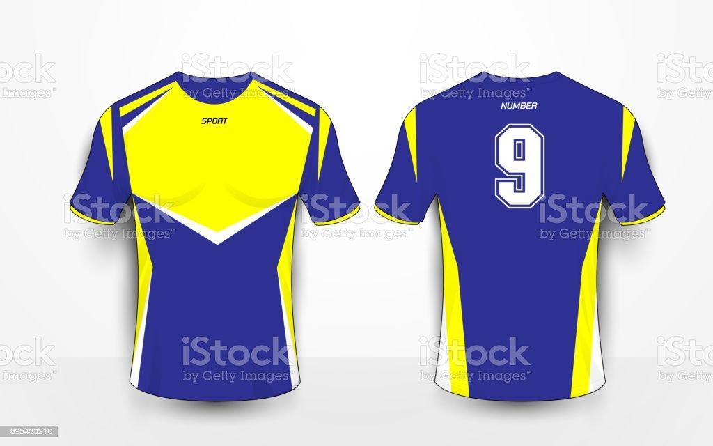 Ilustración de Kits De Fútbol Sport Azul Y Amarillo Jersey Plantilla ... 7b2130d470641