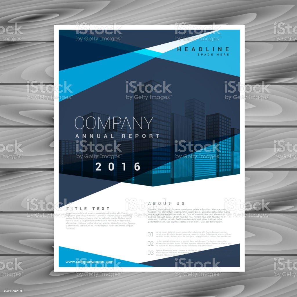 Ilustración de Anual Informe Negocios Folleto Flyer Folleto ...