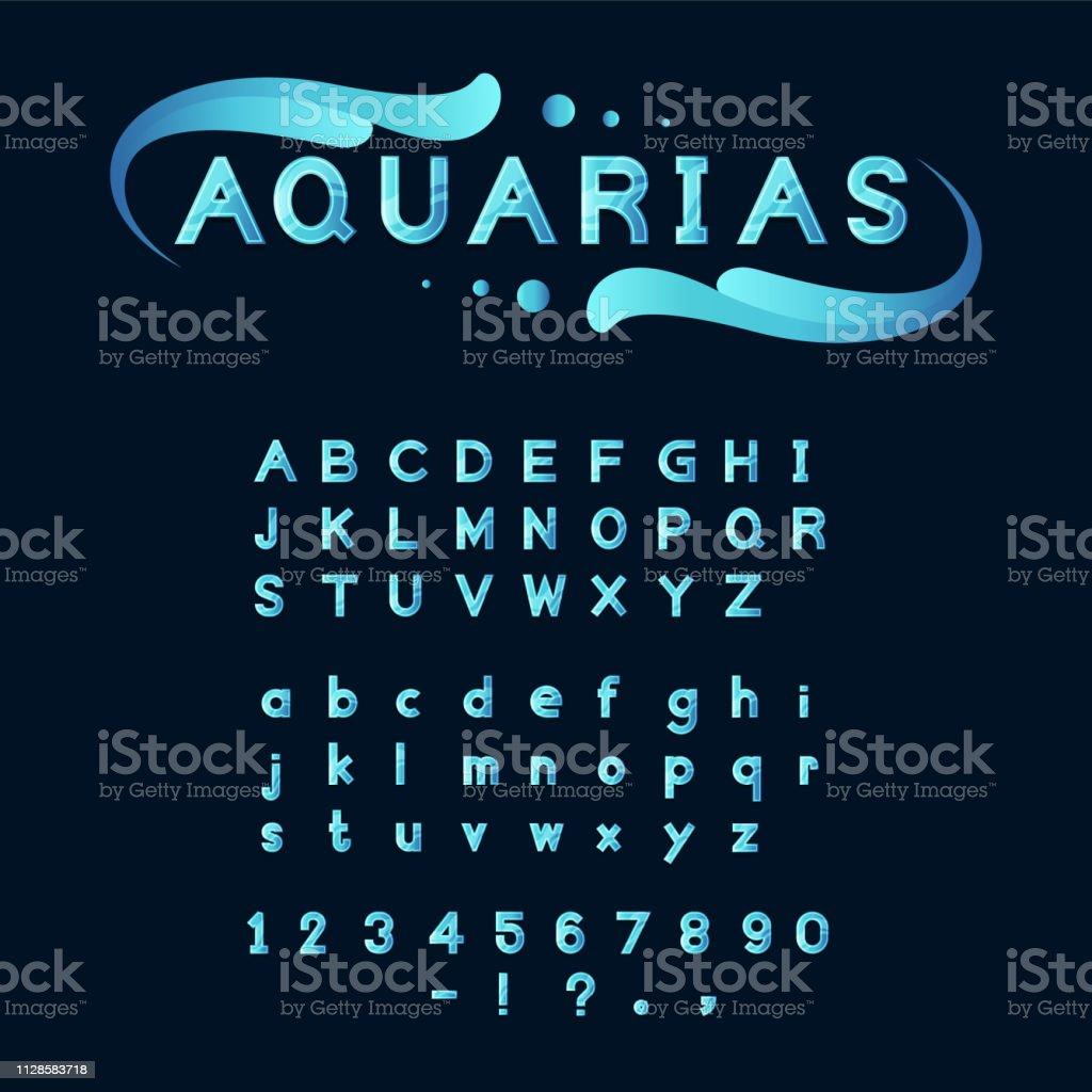 blue Aqua font royalty-free blue aqua font stock illustration - download image now