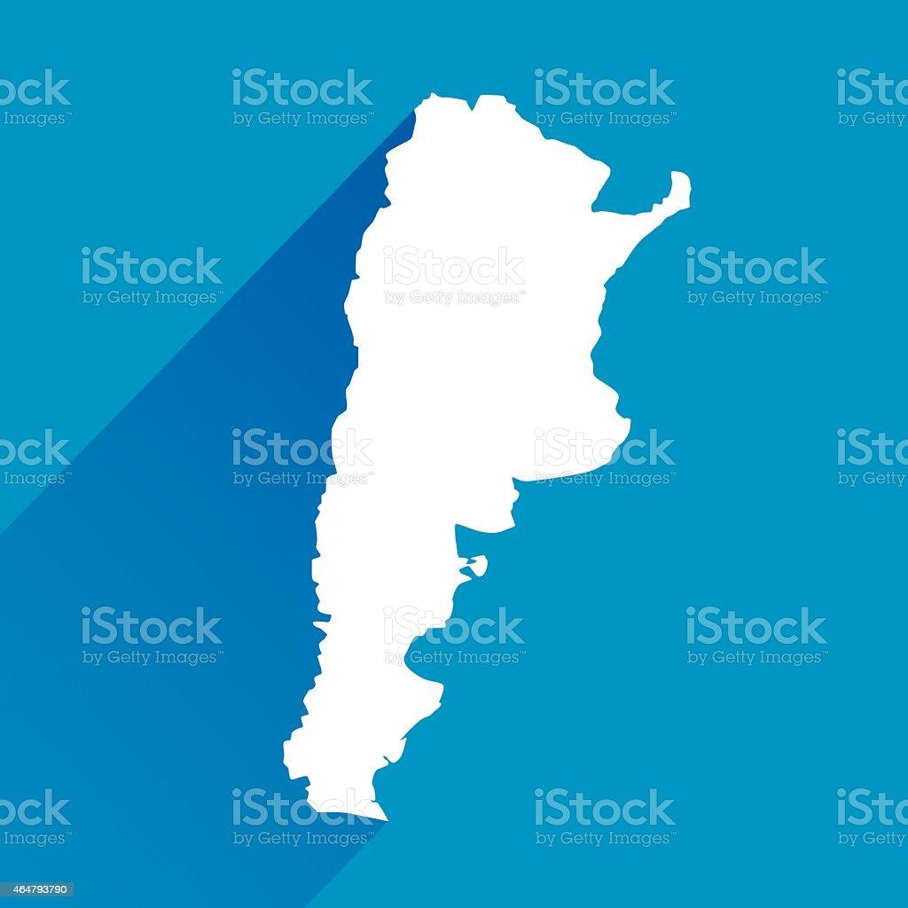 Blue Argentina Map icon vector art illustration