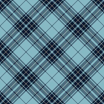 Blue Argyle Scottish Tartan Plaid Textile Pattern