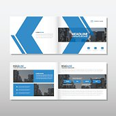 Blue arrow Vector annual report Leaflet Brochure Flyer template design, book cover layout design, abstract business presentation template, a4 size design