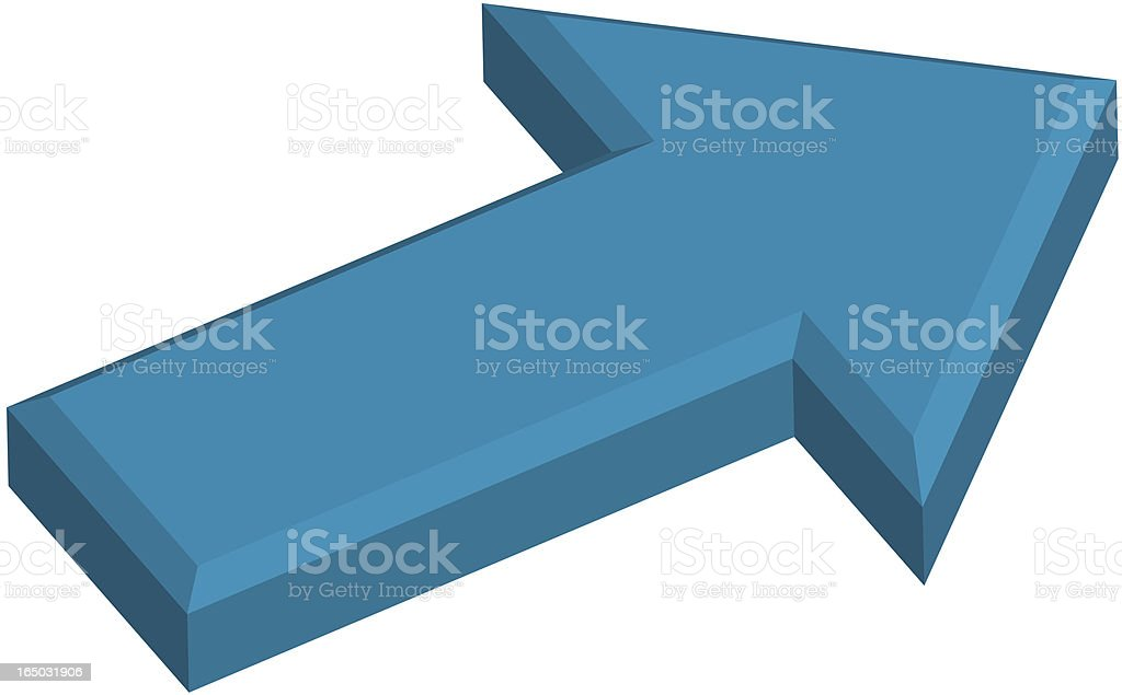 Blue Arrow royalty-free stock vector art