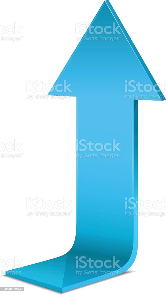 Blue arrow vector art illustration