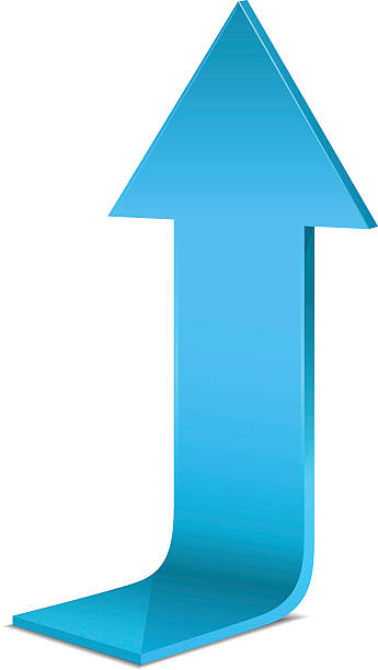 Blue arrow vector art illustration