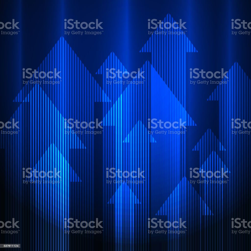 Blue arrows background vector art illustration