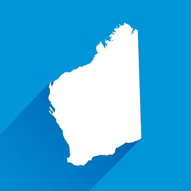 blue australia western territory map icon - western australia stock illustrations