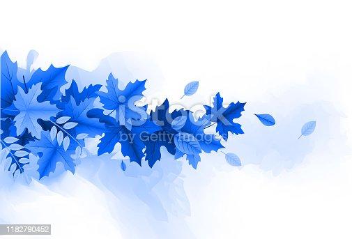 autumn lush foliage leaves design