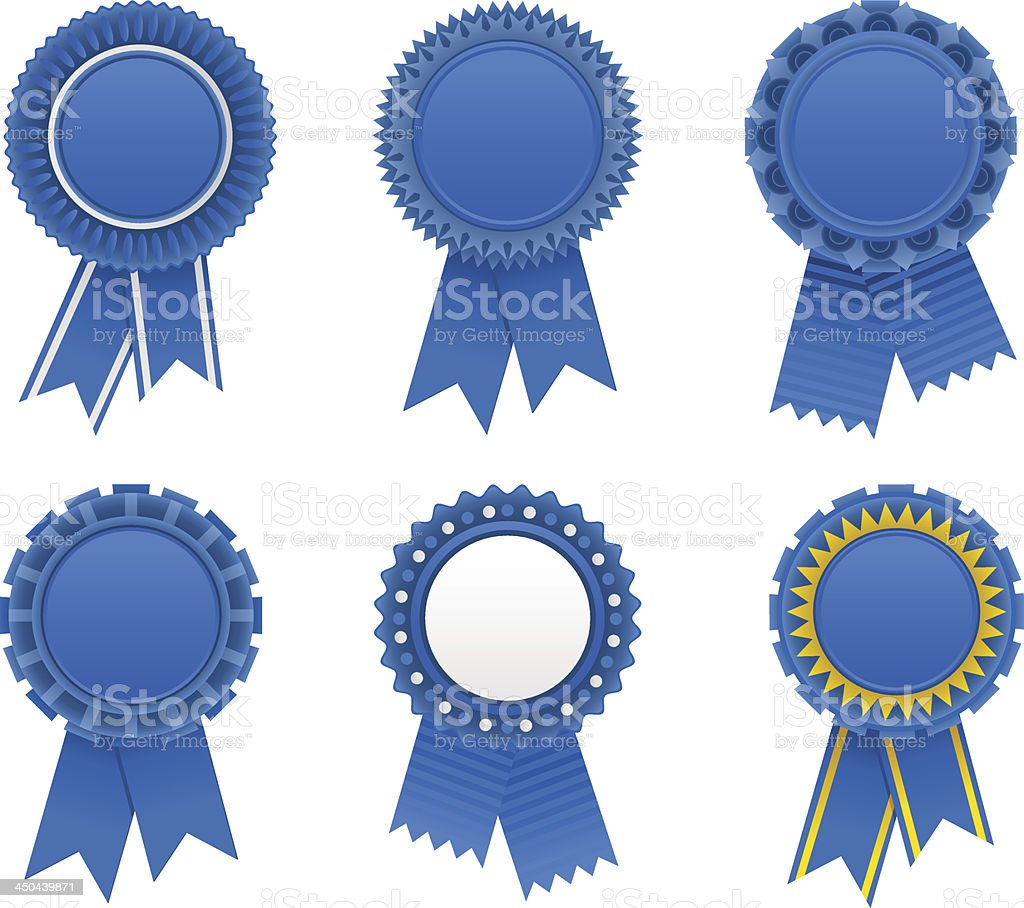 blue award ribbons stock vector art amp more images of