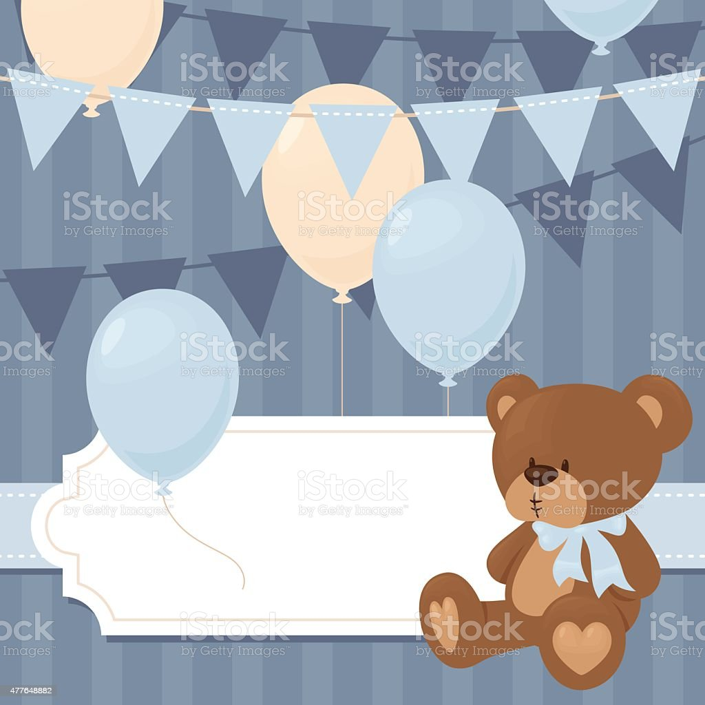 Blue baby bear invitation stock vector art more images of 2015 blue baby bear invitation royalty free blue baby bear invitation stock vector art amp stopboris