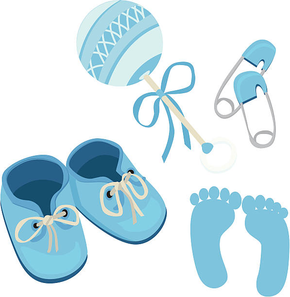 Best Baby Booties Illustrations, Royalty-Free Vector