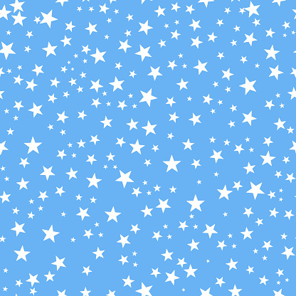 Blue Baby Shower Background Baby Boy Baby Shower Shining Golden White Stars Seamless Background Stock Illustration Download Image Now Istock