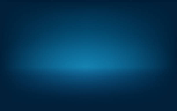 Blue background  Vector eps 10 Light down from above Light top Many lights on top Lighting stage, stage vector art illustration