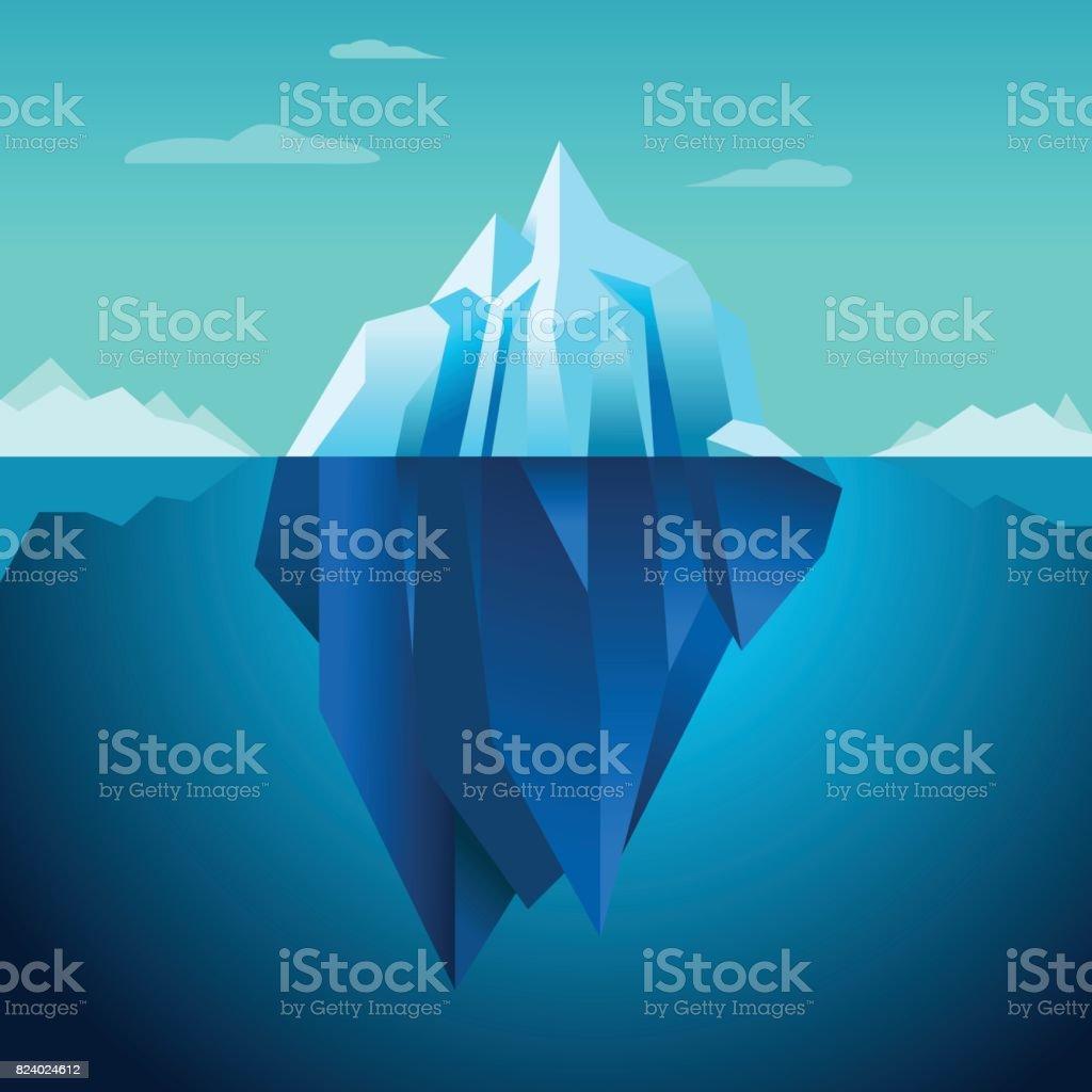 Blue Background Vector Iceberg