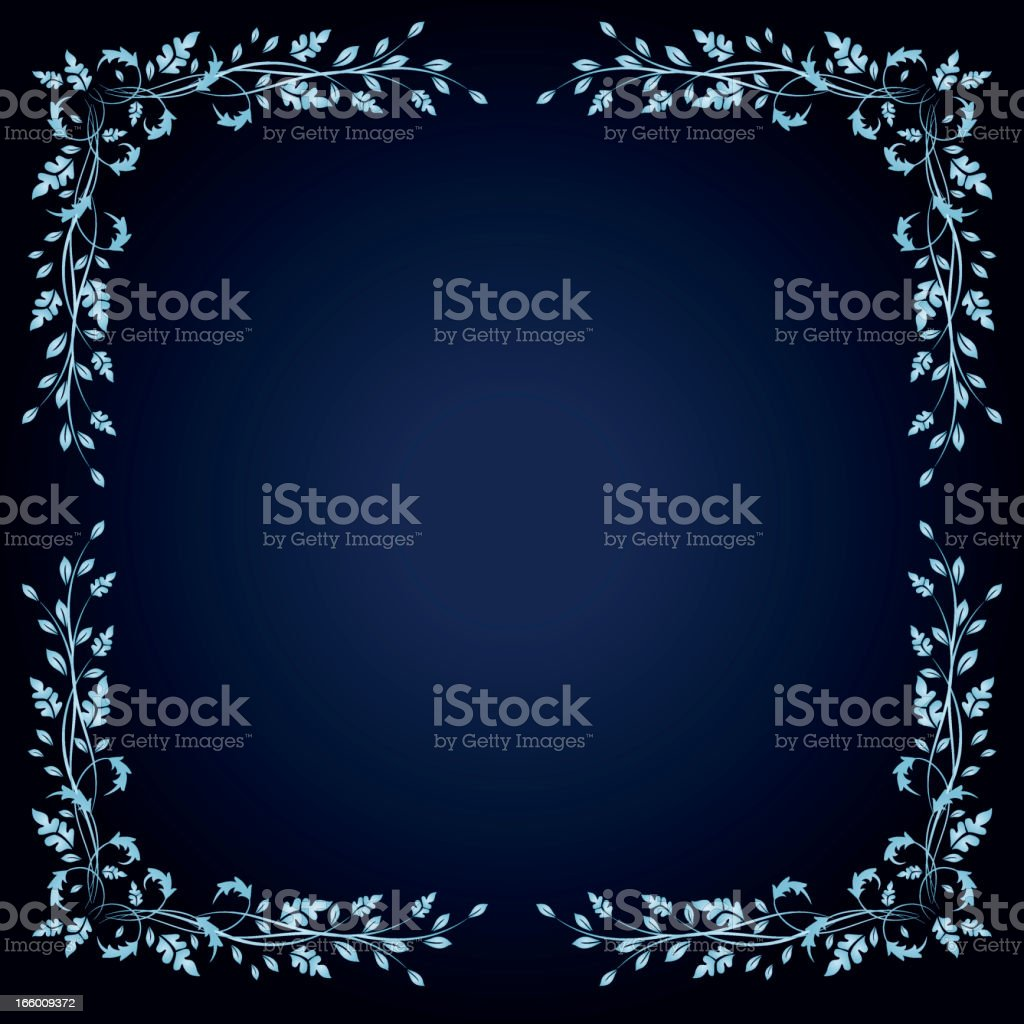 Blue Background With Calligraphic Scroll Corners royalty-free blue background with calligraphic scroll corners stock vector art & more images of angle