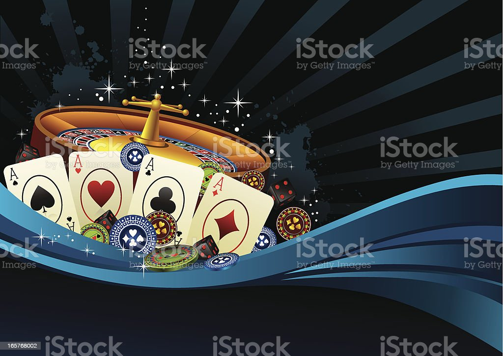 blue background with casino elements royalty-free stock vector art