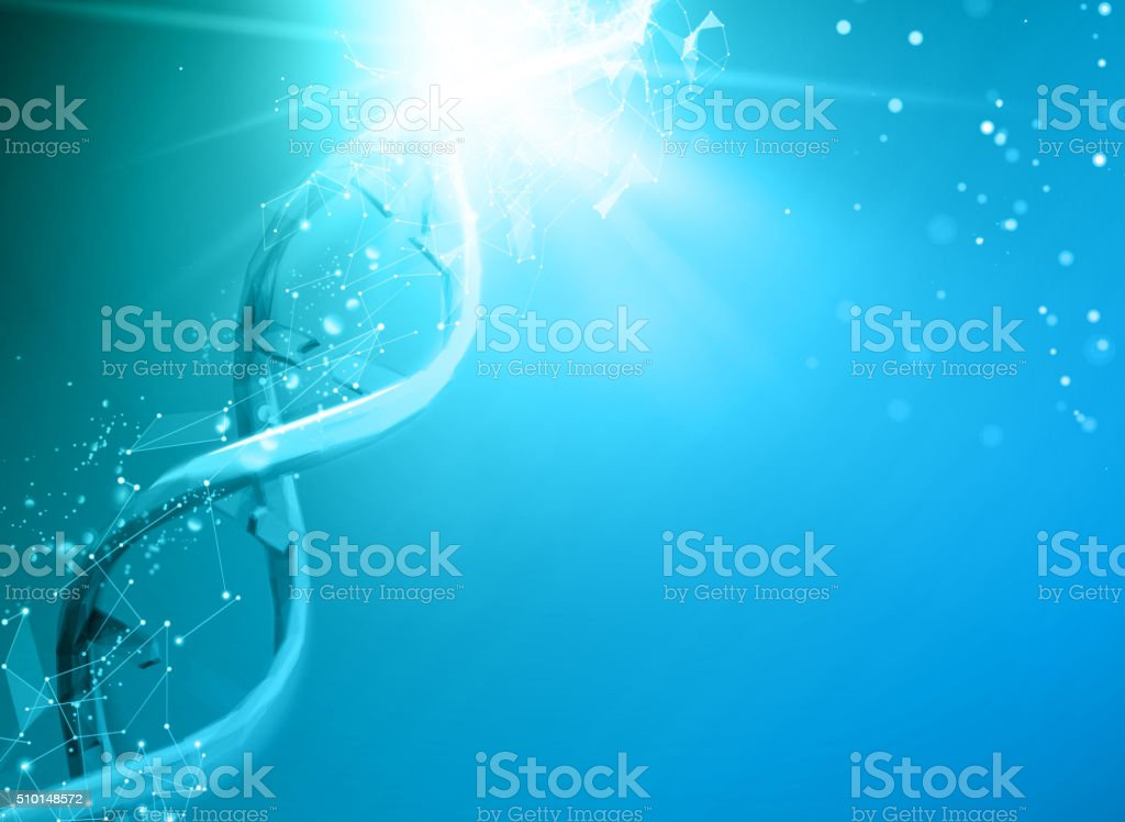 Blue background with DNA vector art illustration