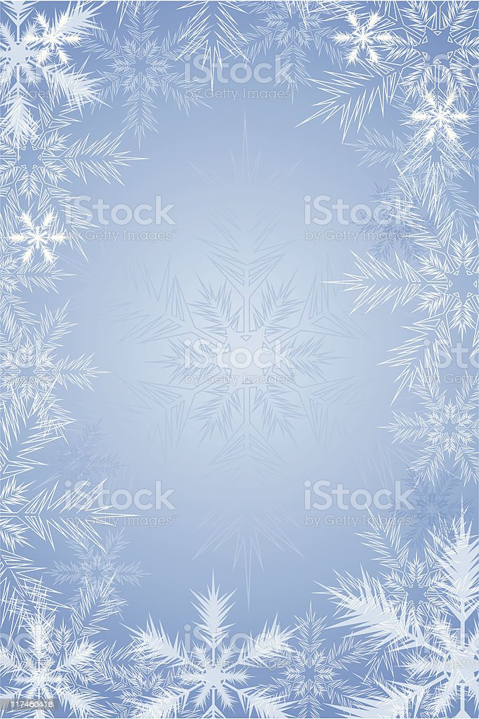 Blue background with snowflake royalty-free stock vector art