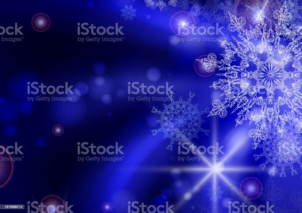 Blue background with snowflakes. royalty-free stock vector art