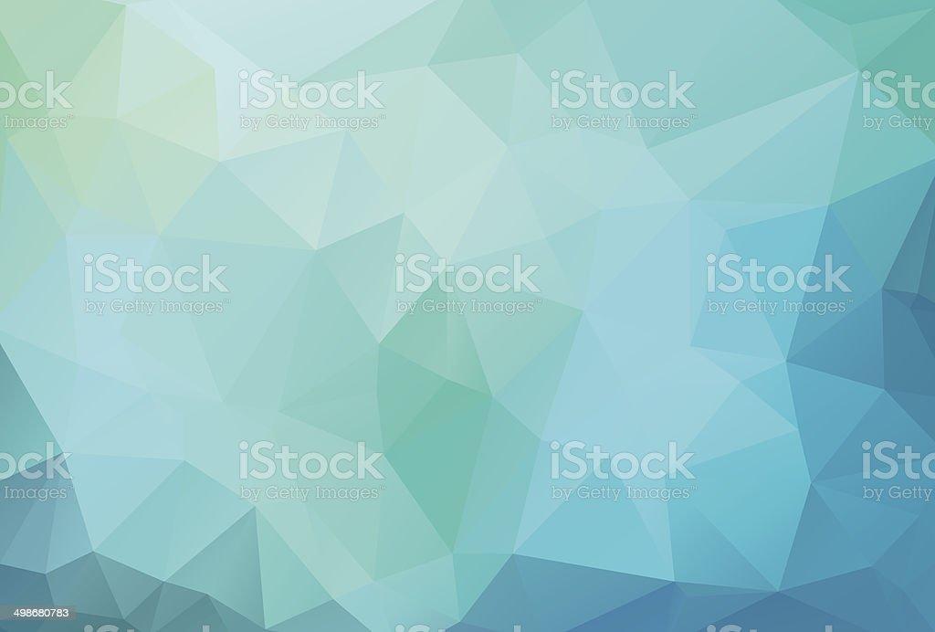 Fundo azul com triagles - ilustração de arte em vetor