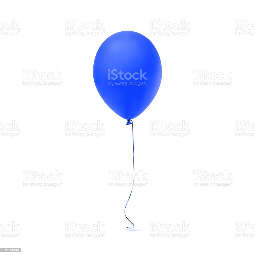 Blue balloon icon isolated on white background vector art illustration