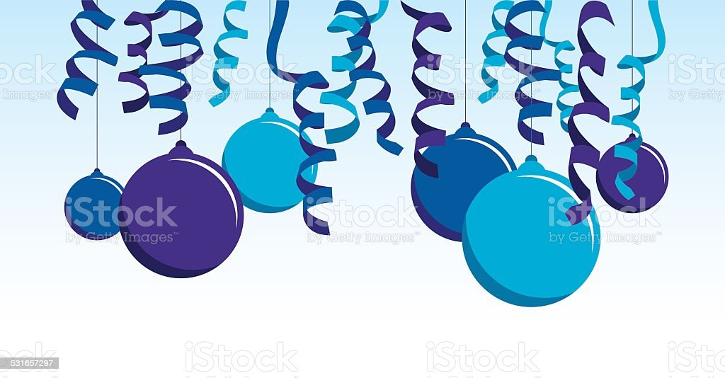 blue balloons and streamers stock vector art more images of 2015