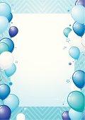 Bleu balloons design with copy space.