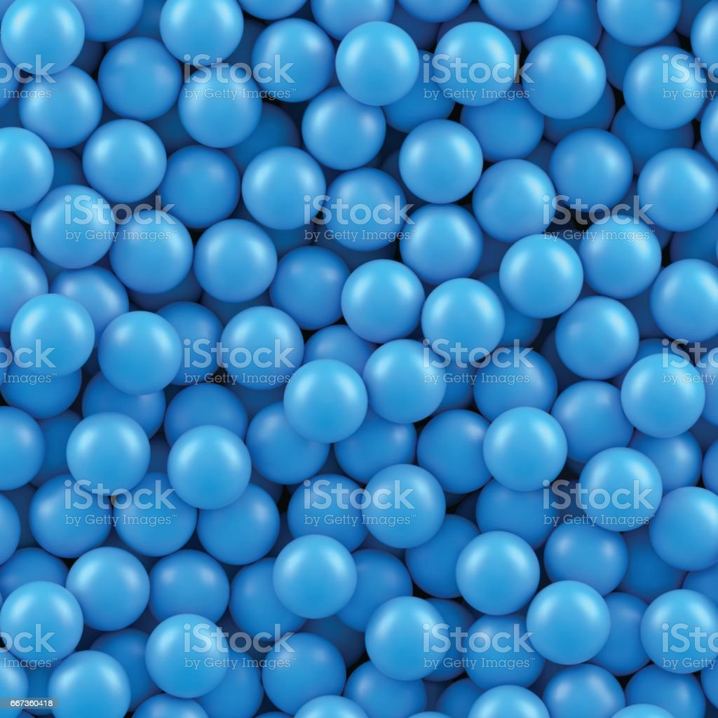 Blue balls background vector art illustration