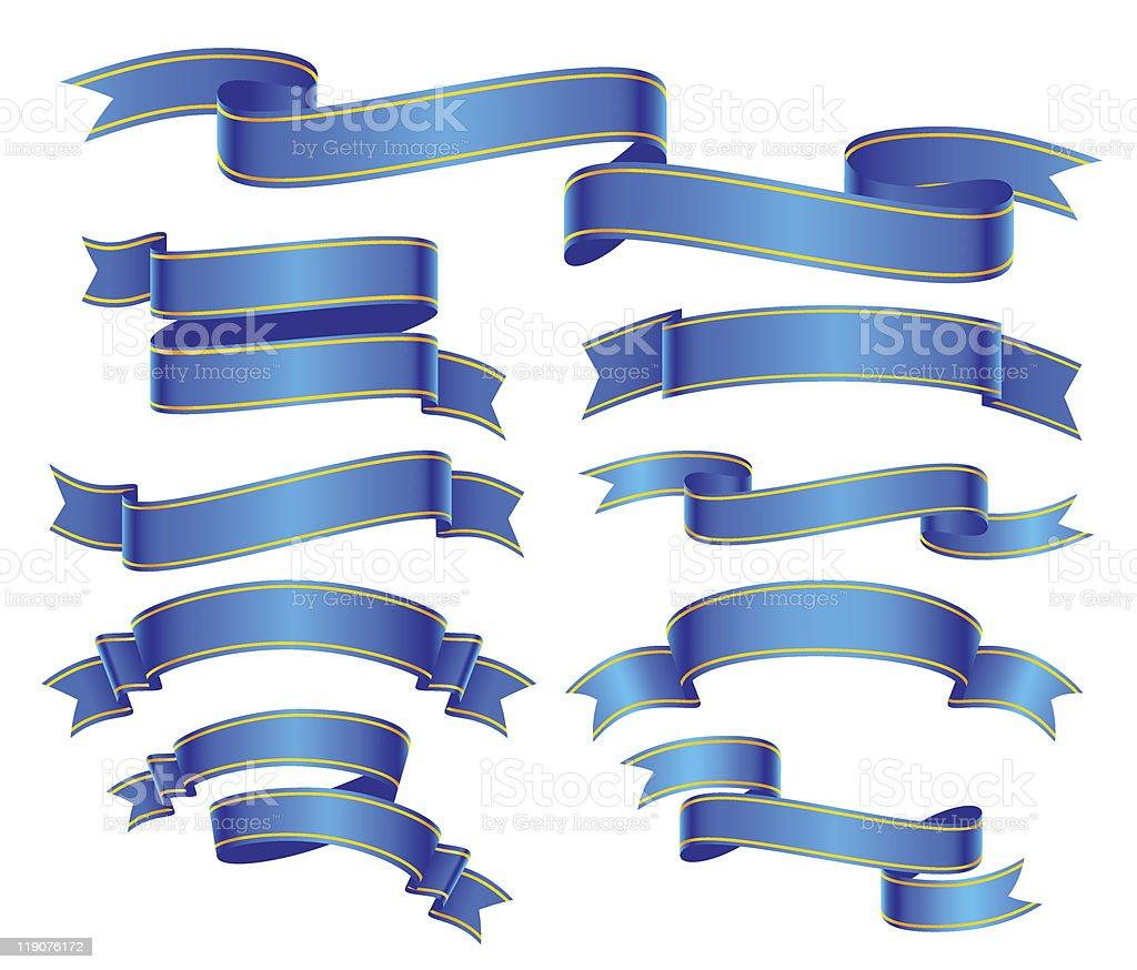 blue banners vector art illustration